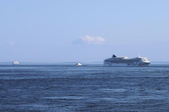 Coupeville, WA: Cruise ships on Puget Sound