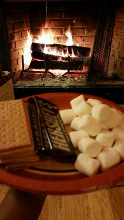 Smores by the fireplace - Picture of Randall Glen Resort ...