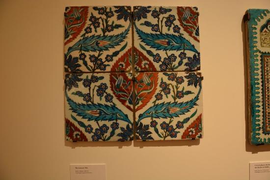 Ceramic tile, Iznik, Turkey - Picture of Aga Khan Museum, Toronto ...