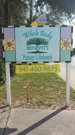 Whole Body Benefits Massage and Bodywork: New location 659 S Indiana Ave, Englewood Fl