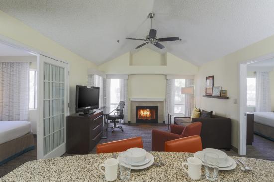 Residence Inn Bakersfield Living Room Upstairs Two Bedroom Suite
