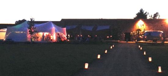 A marquee set up at the Medicine Garden for my 40th bash