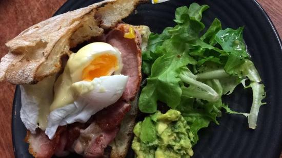 Candy: Bacon & Egg Stack with added avocado