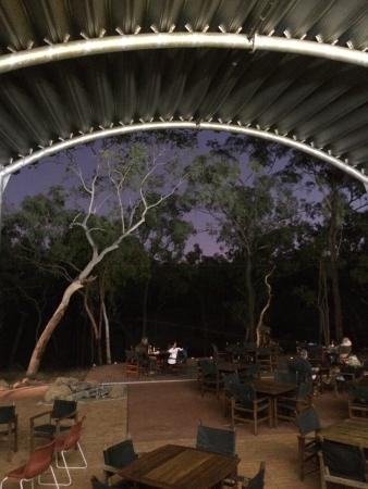Undara Volcanic National Park, Australien: Fabulous view from the bistro at dinner