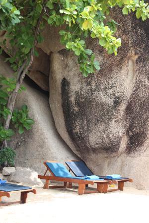 Jamahkiri Resort & Spa: La minuscule mais ravissante plage