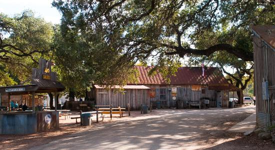 The Luckenbach General Store as you approach on the loop road