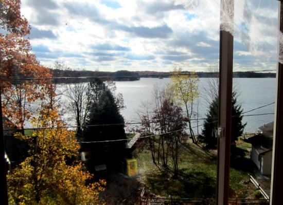 Mecosta, MI: Lake view from lower dining room