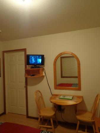 Bedwell Place Guest House: Dining/desk space & TV