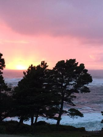 Depoe Bay, OR: from the room...at sunset