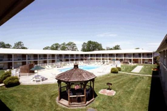 Crystal Inn: courtyard and gazebo