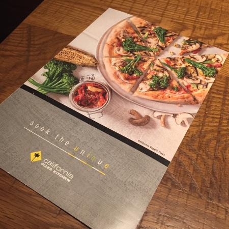 Superb Menu Card Picture Of California Pizza Kitchen Los Angeles Home Interior And Landscaping Eliaenasavecom