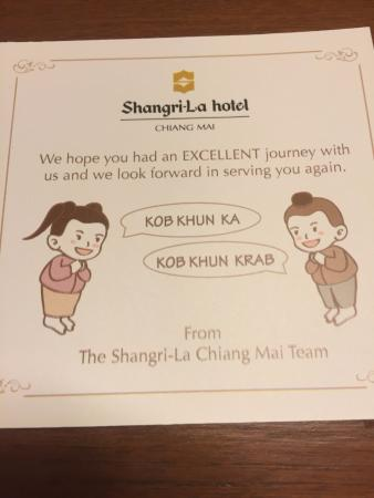 Farewell note picture of shangri la hotel chiang mai chiang mai shangri la hotel chiang mai farewell note thecheapjerseys Image collections