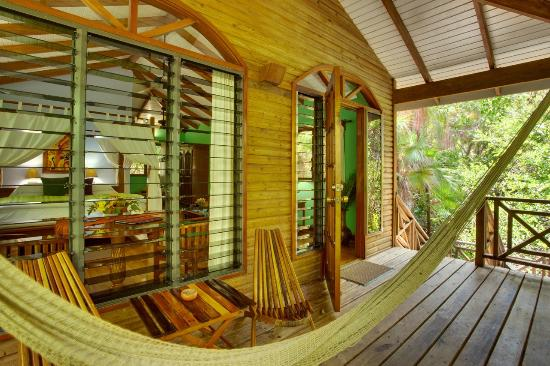 Hamanasi Adventure and Dive Resort: Treehouse Porch