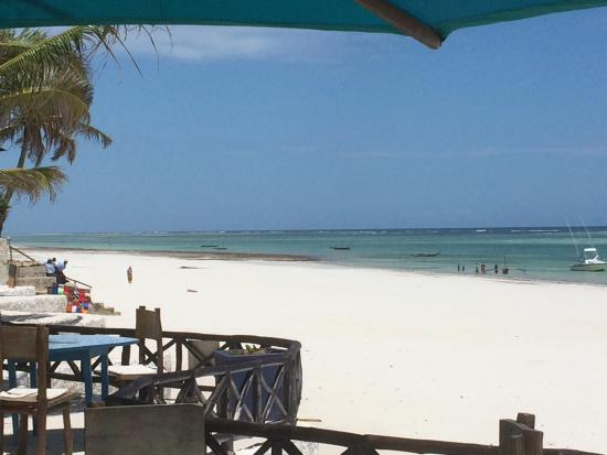 Diani Blue: View of the beach.
