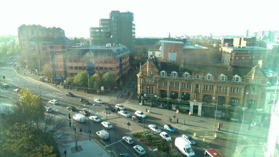 Premier Inn Leicester City Centre Hotel View From Room Across
