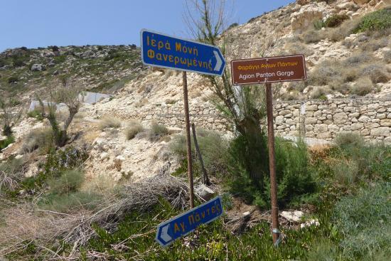 Lasithi Prefecture, Hellas: Agion Panton Faneromenis Gorge