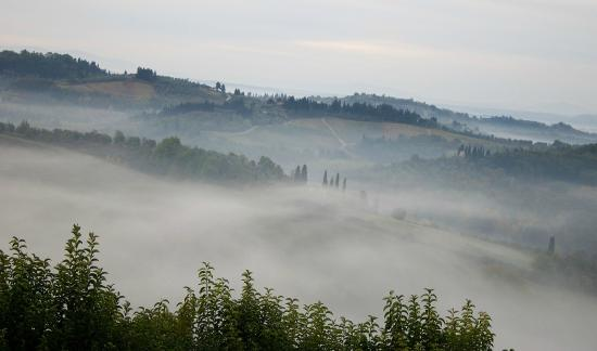 Montespertoli, Italien: View from the window
