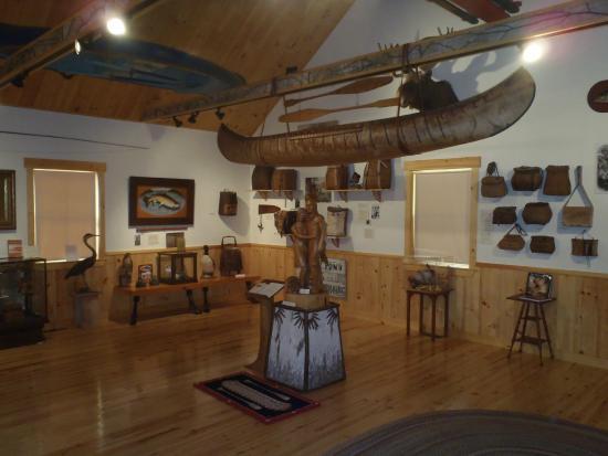 Oquossoc, ME: Authentic Birch Bark Canoe