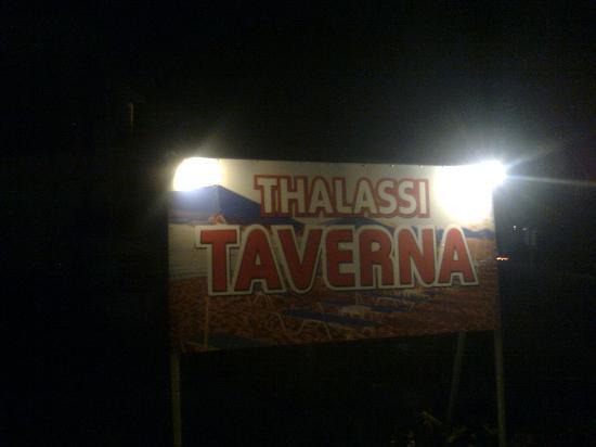 Sfakaki, Grekland: Large advertising ...