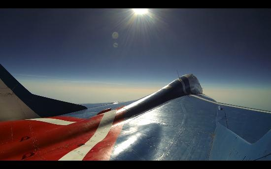 Stratosphere flight - the curvature of the Earth, the