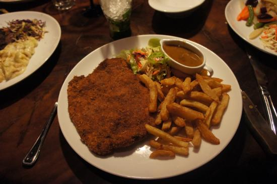 schnitzel picture of the bavarian german restaurant and pub colombo tripadvisor. Black Bedroom Furniture Sets. Home Design Ideas