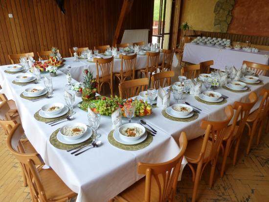 Izbicko, Polonia: sala bankietowa z tarasem widokowym