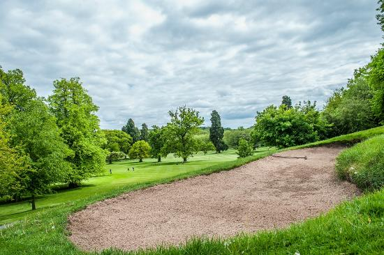 Pattingham, UK: View of the course from the 6th green