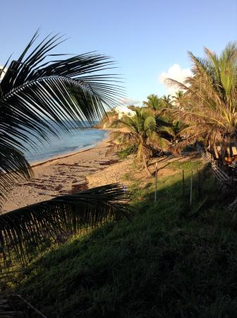 Jennings, Antigua: morning view from the villa