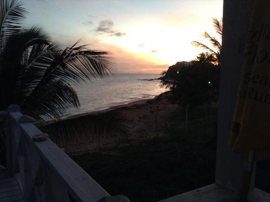 Jennings, Antigua: Evening view from the villa