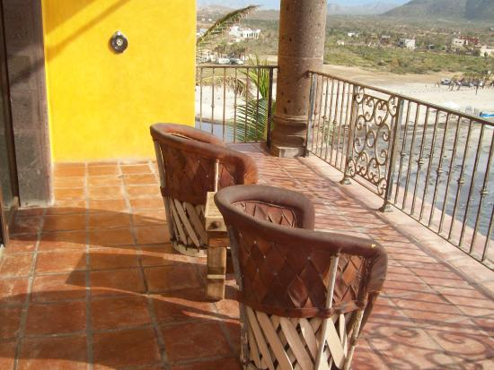 Todos Santos, México: our balcony overlooking the surf colony