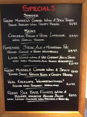 Abbots Langley, UK: Some of our exciting specials