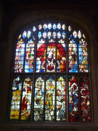 Fairford, UK: the famous stained glass windows.