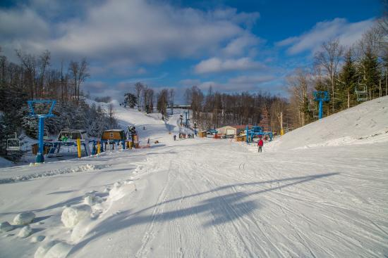 Flat Top, WV: Bottoms of Lifts 2,4,5 and 8