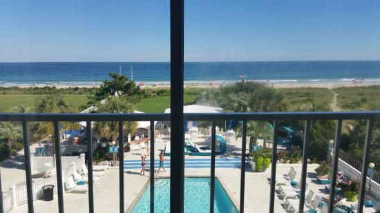 Blockade Runner Beach Resort View From Room Looking At Pool And