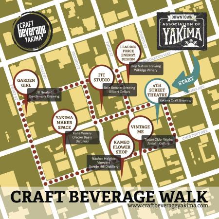 Naches, Waszyngton: Craft Beverage Walk Downtown Yakima