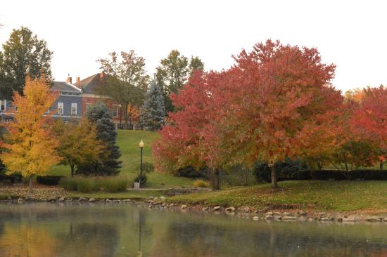 Yoctangee Park: Looking towards downtown Chillicothe, Ohio