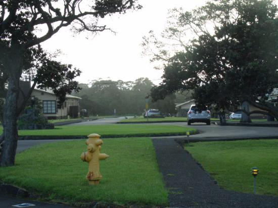 Kilauea Volcano Military Camp: our view from the front door