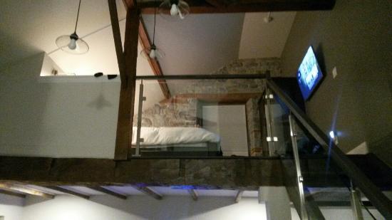 Kemptville, Καναδάς: Loft room - look up toward the loft bedroom