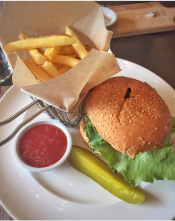 The Waterfront Restaurant: Angus burger with fries