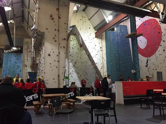 Boulders Indoor Climbing Centre : How big is the climbing wall!
