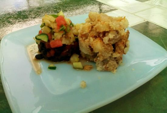 Holetown, Barbados: Brunch Special: Ground Provisions with Black Bean Salad
