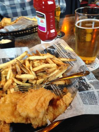 Douglas, MI : Friday Special Fish and Chips with Oval Beach Blonde