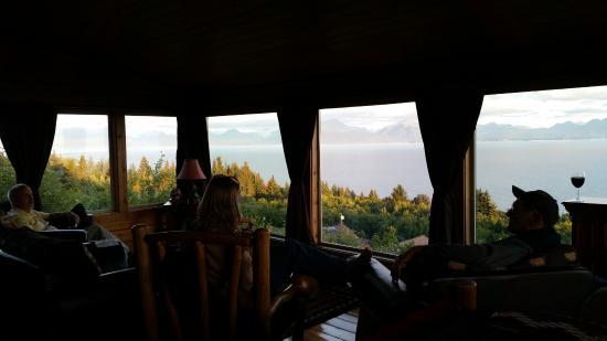 Alaska Adventure Cabins: View from Upper Room