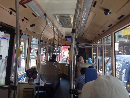 Suasana dalam bis sangat nyaman Picture of GO KL City Bus Kuala