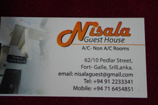 Nisala Guest House : El hotel