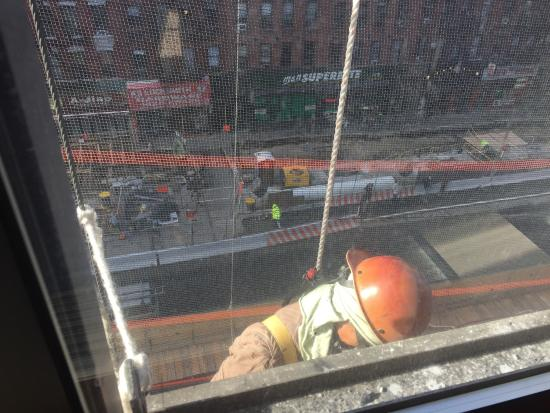The Marmara Manhattan: Could not use balcony and workmen right outside window