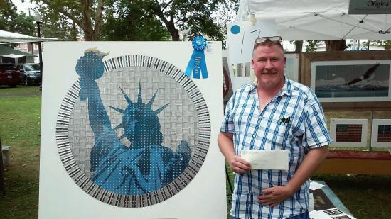 """Perkasie, PA: """"He's the Picasso of his own little slice of Bucks County"""" a recent patron exclaimed. Razor blad"""
