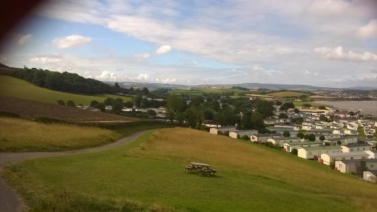 Watchet, UK: view top of hill of caravans