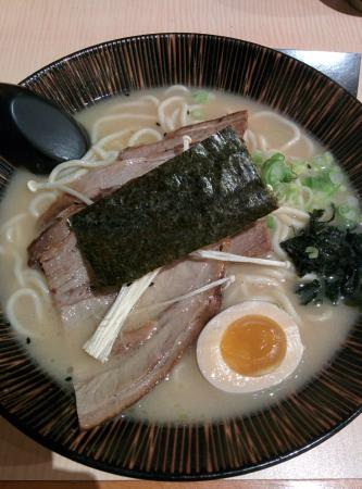Jyuban  Ramen House : Ramen with bbq pork in pork bone soup