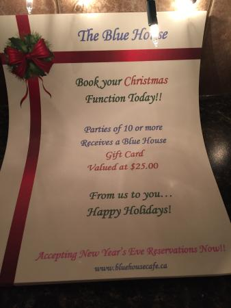 The Blue House : Christmas Bookings ~ Happy Holidays!